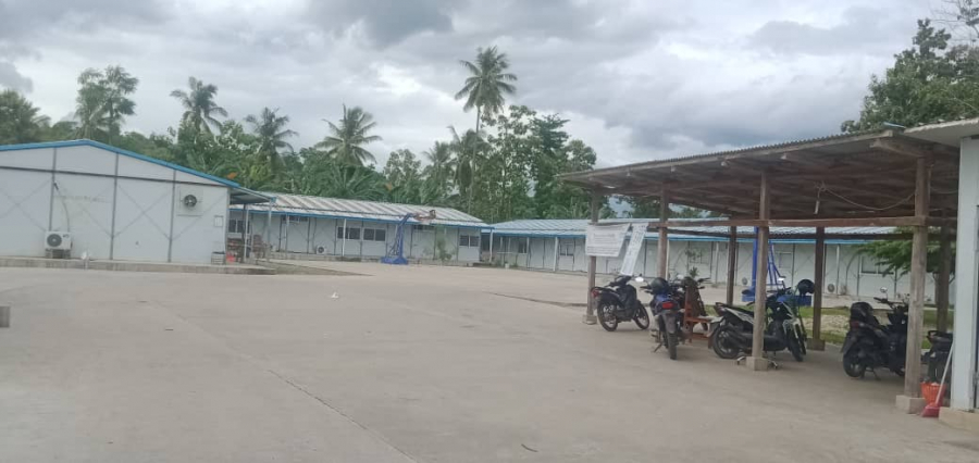 Kuarentena iha bairu Ahi Narai, suku Debus Postu Suai Vila, Kinta (4/2). Foto Tempo Timor.